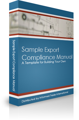 Sample Export Compliance Manual Cover