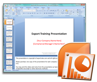 Sample Export Training Presentation - ITAR Export Compliance