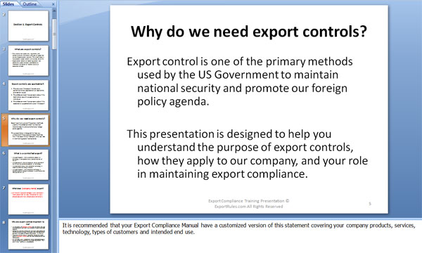 why do we need export controls?